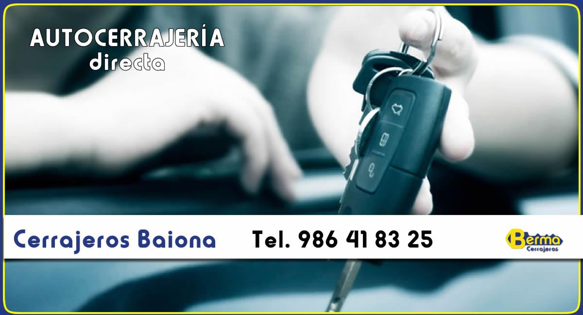 copias de llaves de coche en Baiona Berma
